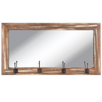 Barnwood Pub Wall Mirror with Hooks | Hobby Lobby | 1291475