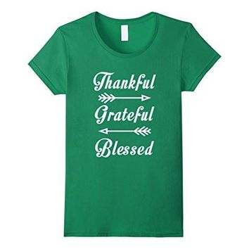 Thankful Grateful Blessed Thanksgiving Funny T Shirt