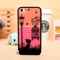 FREE SHIPPING Cat Fashion iPhone 4 5 Case