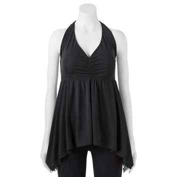 It's Our Time Handkerchief Hem Halter Camisole - Juniors, Size: