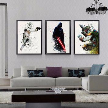 Star Wars Classic Movie Posters Canvas Paintings Gift Boy Wall Pictures Prints Pop Art for Kids Living Room Home Decor