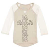 Forever Orchid 7-16 Love Cross Raglan Top | Dillards.com
