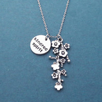 Kindred spirit, Flower, Tree, Silver, Necklace, Birthday, Best friends, Friendship, Gift, Jewelry