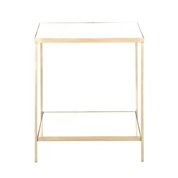 Rylan Square End Table Brass