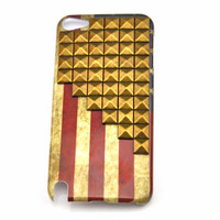iPod touch 5 hand Case Cover with bronze pyramoid stud for appleipod touch 5 hard Case, ipod touch 5 case  s08