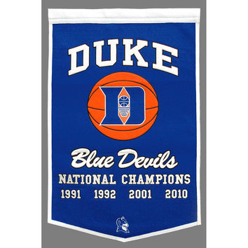 Duke Blue Devils NCAA Dynasty Banner (24x36)