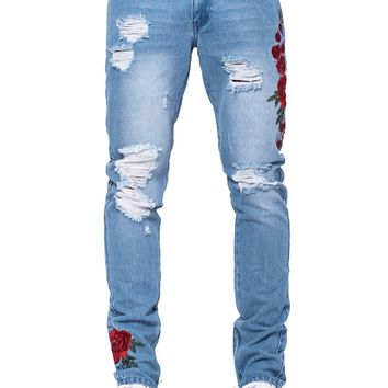 Rosebud Tapered Jeans - Blue