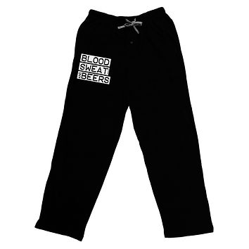 Blood Sweat and Beers Design Adult Lounge Pants - Black by TooLoud
