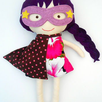 RAG DOLL, fabric dolls, dolls, large doll, toys, cloth dolls, superhero doll, dress up doll, handmade dolls, soft dolls, sensory toys,