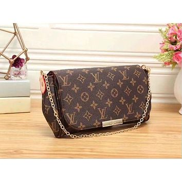 Louis Vuitton Women Shopping Leather Satchel Shoulder Bag Handbag Crossbody I