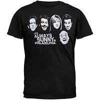 It's Always Sunny In Philadelphia - Black & White Faces T-Shirt