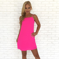 Falling for You Shift Dress in Pink