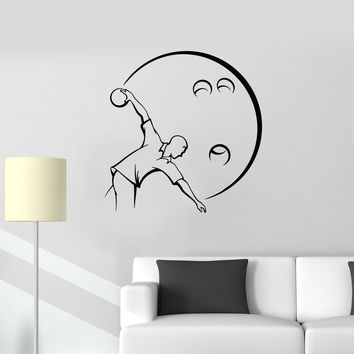 Vinyl Wall Decal Bowler Bowling Ball Player Man Decor Art Stickers Mural (ig5487)