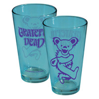 Grateful Dead - Dancing Bear Teal Pint Glass