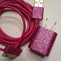 Pink Sparkly Iphone 4/4s Charger