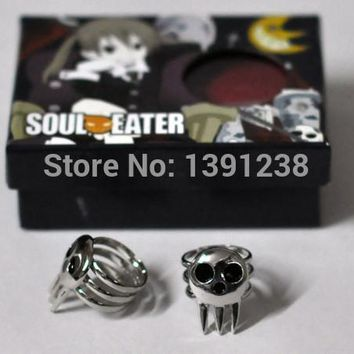 2PCS Soul Eater Death The Kid Cosplay Ring NEW with box Free shipping Costume Props Weapons