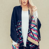 Colorful Reversible Poncho