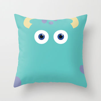 PIXAR CHARACTER POSTER - Sulley 2- Monsters, Inc. Throw Pillow by Marco Calignano