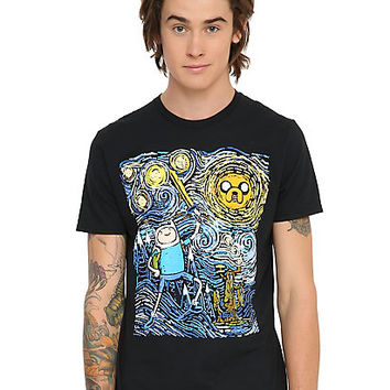 Adventure Time Jake & Finn Starry Night T-Shirt