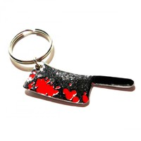 Bloody Meat Cleaver Keychain