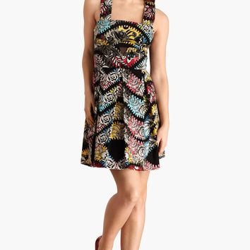 Donna M Organ Print Fit & Flare Dress (Donna Morgan)