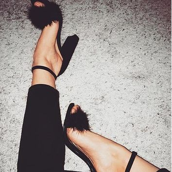 Ankle Strap Fashion Women High Heels Shoes