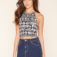 Abstract Print Cropped Cami | Forever 21 - 2000205574