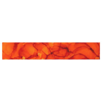 """Claire Day """"Orange"""" Red Table Runner"""