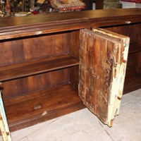 Antique HANDCRAFTED Solid Wooden Sideboard Indian Storage Cabinet Tv Console Farmhousestyle