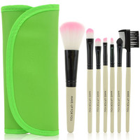 Green Travel  Brush Kit,7 Piece 1 set
