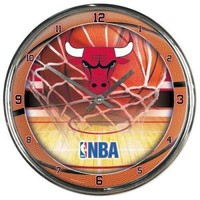 Wincraft Chicago Bulls Round Chrome Wall Clock