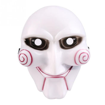 1pc Halloween Mask Party Masks Fancy Face Mask For Halloween Holiday Party White Games Mask