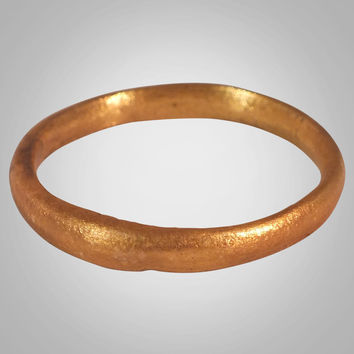 Authentic Ancient Viking Wedding Band Jewelry C.866-1067A.D. Size 10 1/4  (19.6mm)(BRR935)