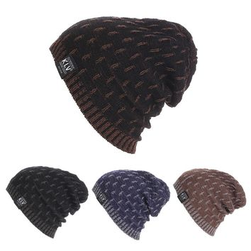 Winter Hat Casual Unsex Knitted Hats For Men Baggy Beanie Hat Crochet Slouchy Oversized Caps Warm Skullies Toucas Gorros