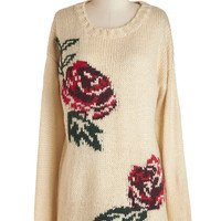 Pink Martini Long Sleeve Study Closely Sweater