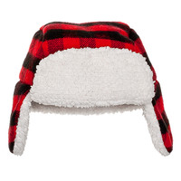 Red & Black Plaid Nordic Hat