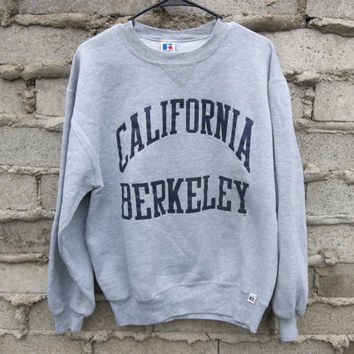 Vintage Sweatshirt 1990s California Berkeley College Hipster Preppy Student sz fits Medium Retro Jumper