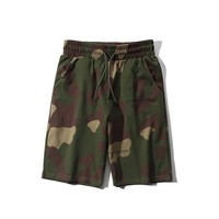 Off-White Fashion New Casual Camouflage Print Beach Sports Shorts
