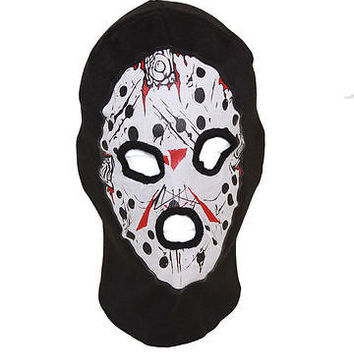 Beanie Full Face Bloody Jason face mask Ski Mask costume halloween attire-New!