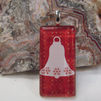 Christmas Bell- Glass Pendant - Domino
