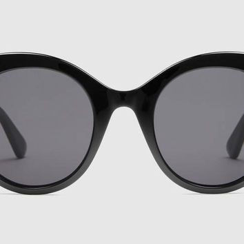 Gucci - GG0028S Black Sunglasses, Grey Lenses