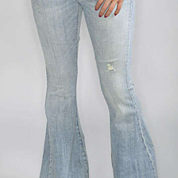 festival blues bell bottom jean
