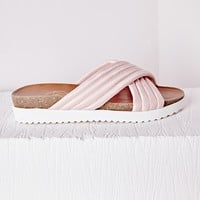 Missguided - Quilted Slider Pink