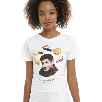 Supernatural Love Me Some Pie Girls T-Shirt