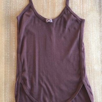 Burgundy Bow Trim Tank