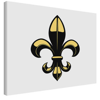 Golden Fleur de Lis Printed Canvas Art Landscape - Choose Size