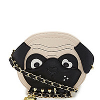 Betsey Johnson Pug Cross-Body Bag - Cream