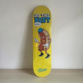 "Do The Best 8"" Canadian Maple Yellow Skateboard Deck"