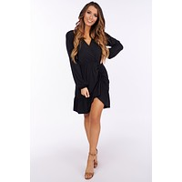 So What's Next Cinch Dress (Black)