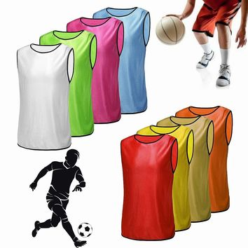 Football Training Bibs Team Vests Soccer Basketball Sports Jerseys Pinnies Adult Clothes Sportswear